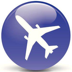 dark blue airplane button